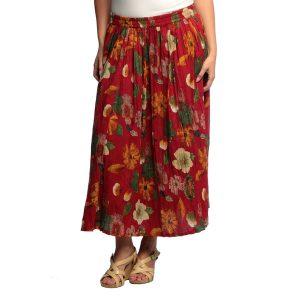 Plus Size Broomstick Skirt
