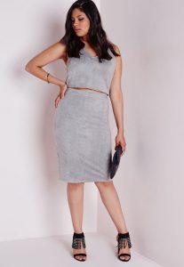 Plus Size Grey Skirt