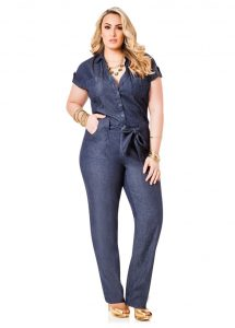 Plus Size Jean Jumpsuits
