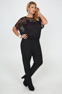Plus Size Lace Jumpsuits