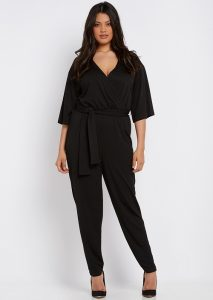 Plus Size Long Sleeve Jumpsuit