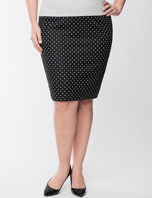 polka dot skirt dressed up