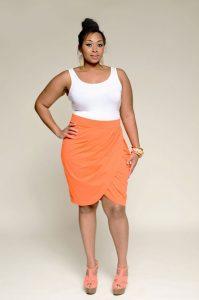 Plus Size Tulip Skirt