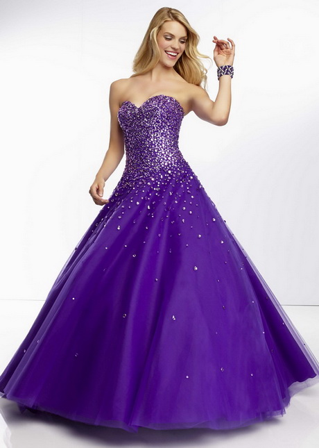 Purple Gown Dressed Up Girl
