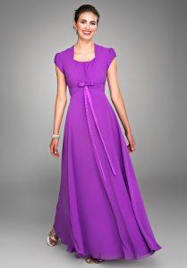 Purple Chiffon Gown
