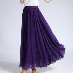 Purple Chiffon Skirt