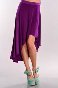 Purple High Low Skirt
