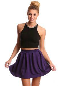 Purple Mini Skirts
