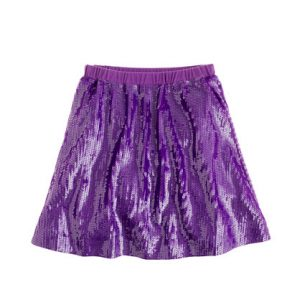Purple Sequin Skirt