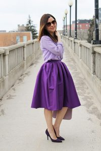 Purple Skirt Outfit