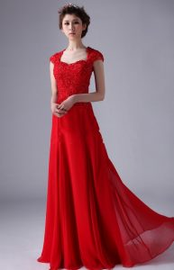 Red Cap Sleeve Gown