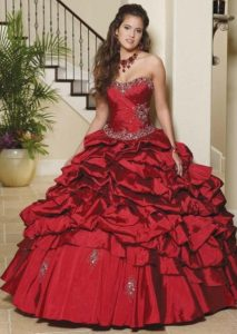 Red Gothic Ball Gowns