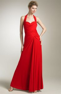 Red Halter Gown