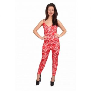 Red Lace Jumpsuit