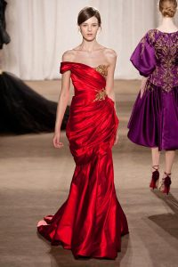 Red Marchesa Gown