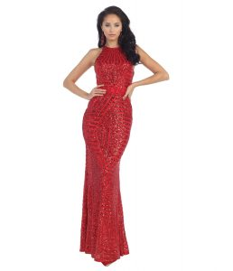Red Sequin Gown Images