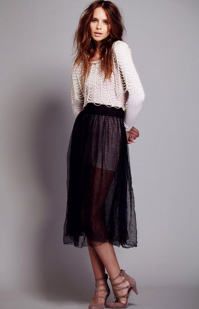Sheer Skirt Dressed Up Girl