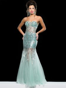 Sheer Prom Gown