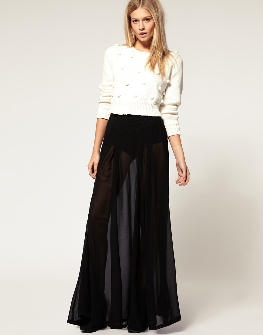 Maxi skirt sheer black – Modern skirts blog for you