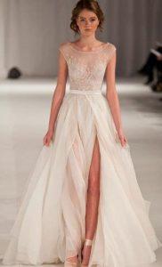 Sheer Wedding Gown