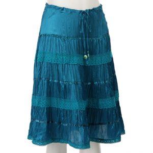 Silk Broomstick Skirt