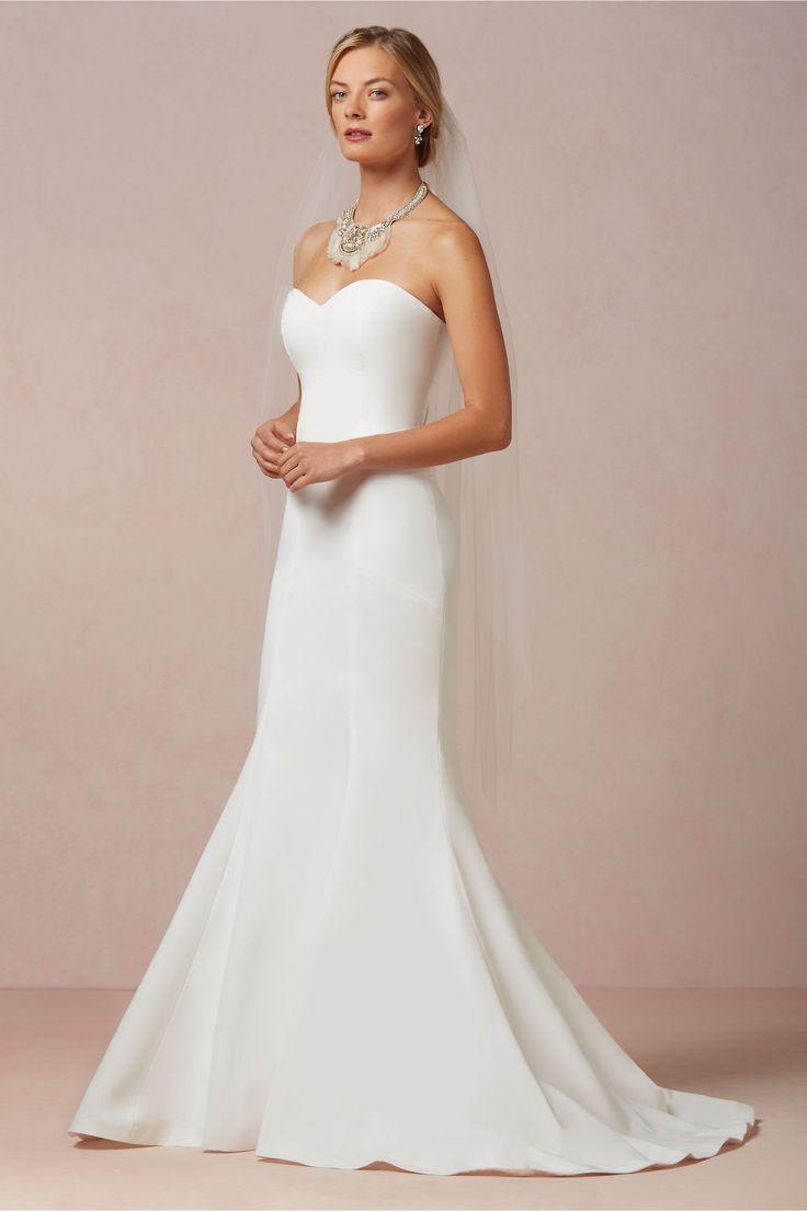 Silk Wedding Dress with Bow