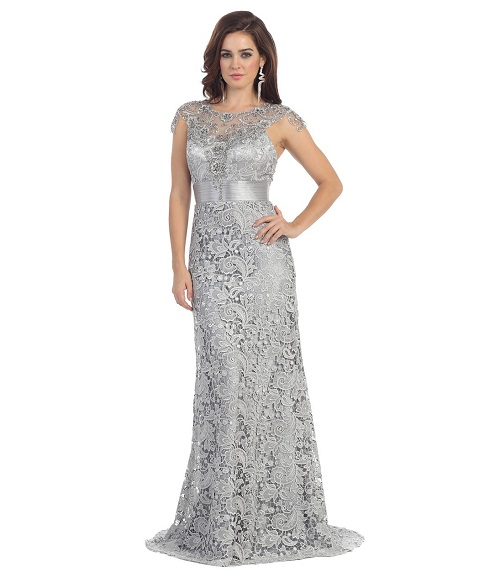 Silver gowns dressed up girl for Plus size wedding dresses austin tx