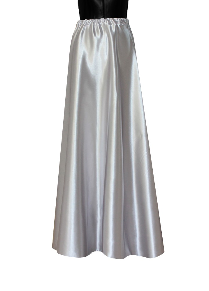 The Plus Size Goddess of Sequin Silver Maxi Skirt is a full-length cute skirt for night. Get this and other plus size formalwear online at Kami Shade.