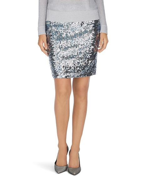 Sequin skirt silver – Modern skirts blog for you