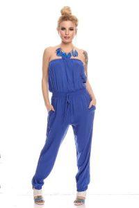 Strapless Blue Jumpsuit