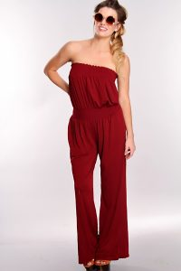 Strapless Jumpsuit Outfit