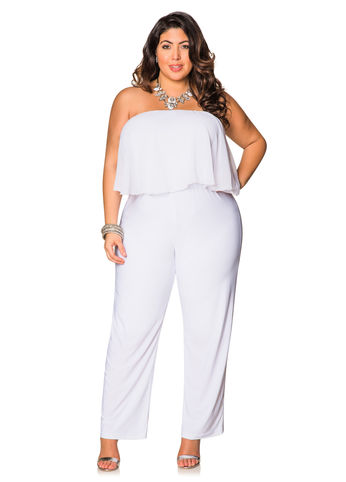 strapless jumpsuit | dressed up girl