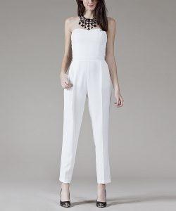 Strapless White Jumpsuit