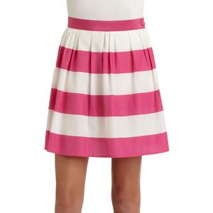 striped skirt dressed up