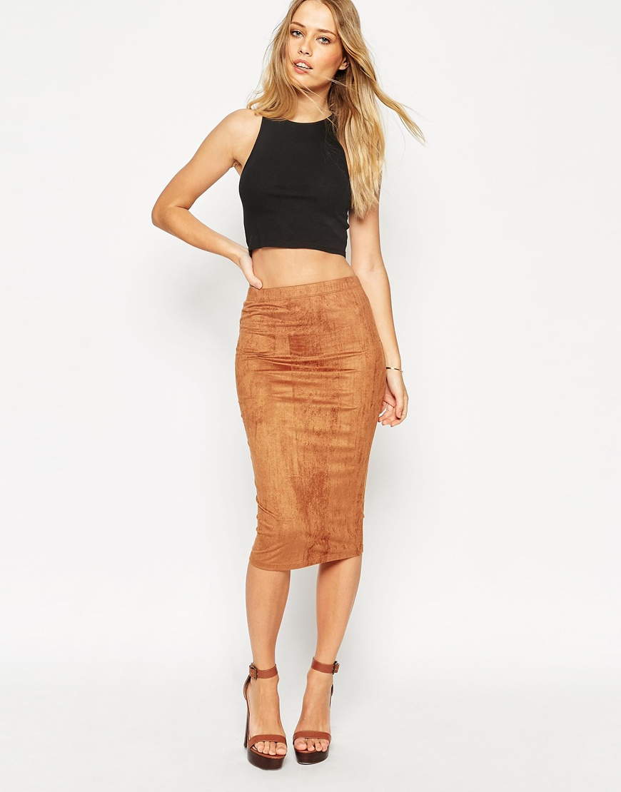 Faux Suede Skirt | Gommap Blog