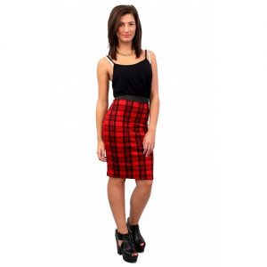 Tartan Midi Skirt