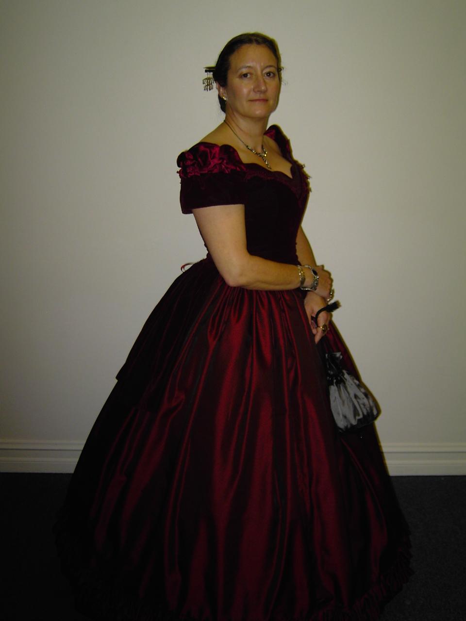 Velvet Gown Dressed Up Girl