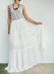 White Boho Skirt