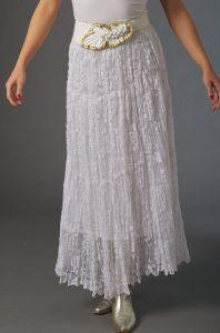 White Broomstick Skirt