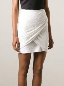 White Draped Skirt