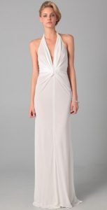 White Halter Gown