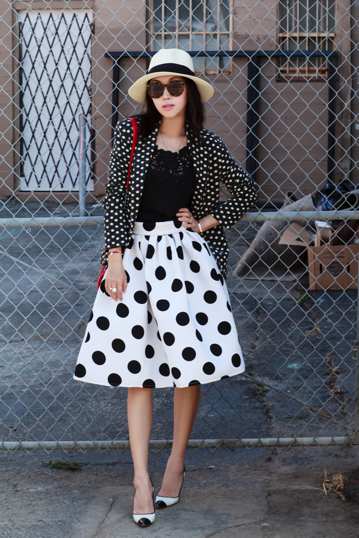 Navy And White Polka Dot Shoes