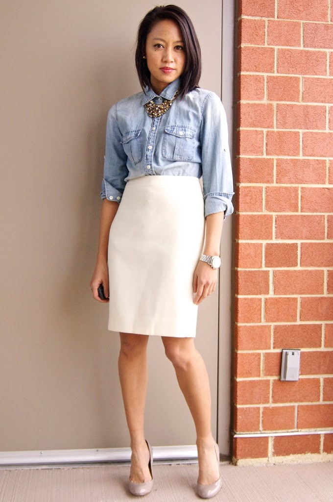White pencil skirt petite – Modern skirts blog for you