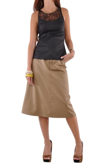 Khaki Skirts For Women - Dress Ala