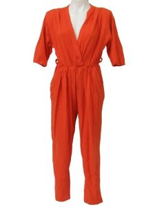 Womens Orange Jumpsuit