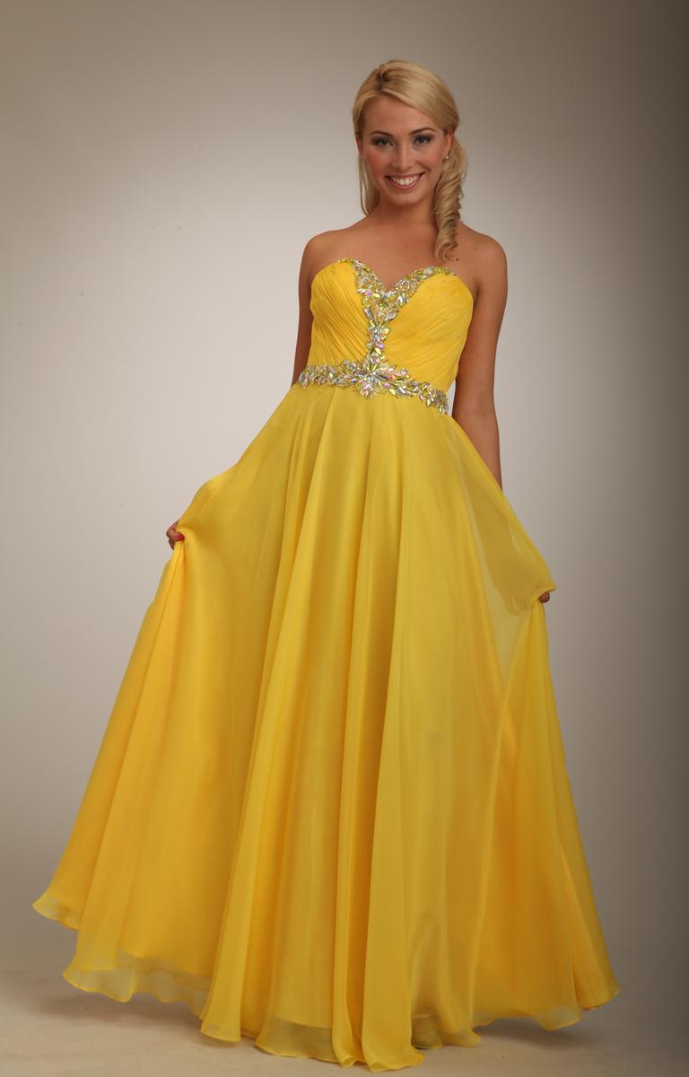 Yellow Gown Dressed Up Girl