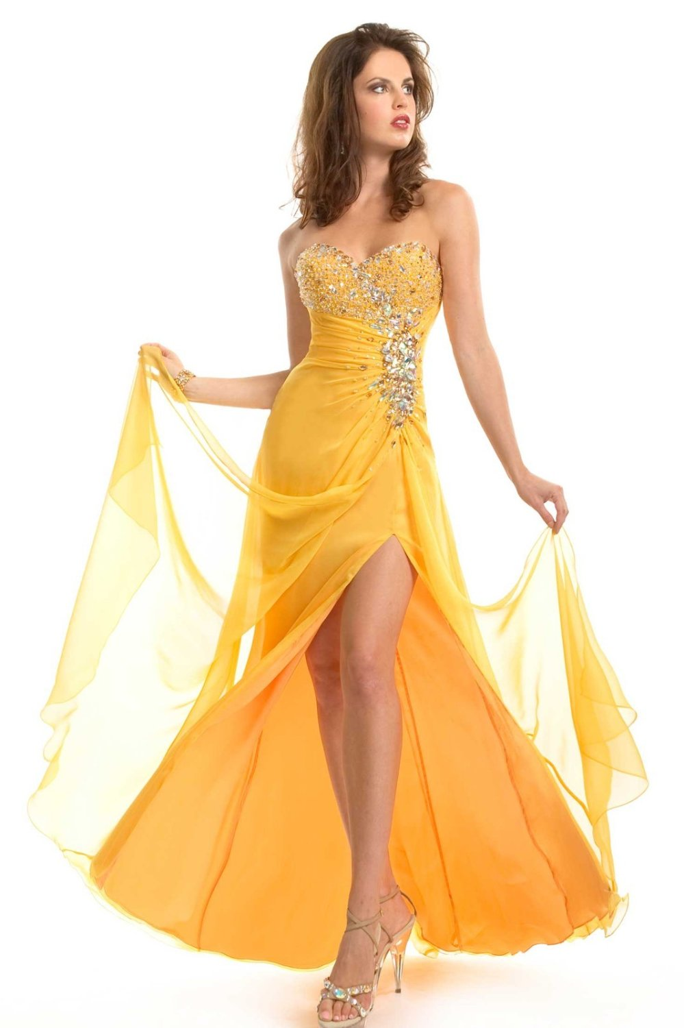 Yellow Gown | Dressed Up Girl