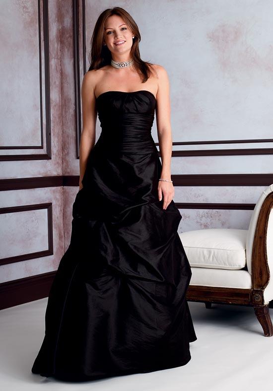 Black taffeta bridesmaid dresses