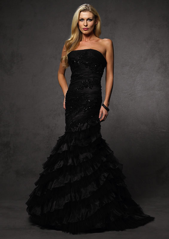 black gown dressed up girl