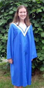 Blue Graduation Gown